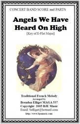 Cover art for Horn 1 in Eb part from Angels We Have Heard On High (Christmas) - Concert Band