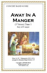 Cover art for 1st Trombone part from Away In A Manger - 1st Tune  (Christmas) - Concert Band