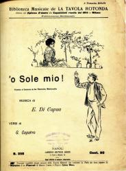 Cover art for Piano part from O Sole Mio for Guitar & Piano