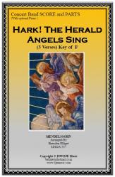 Cover art for Baritone part from Hark! The Herald Angels Sing (Christmas) - Concert Band