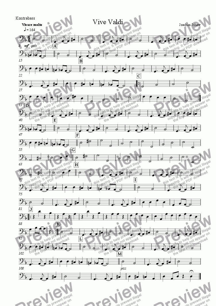 page one of the B part from Vive Valdi (School-String-Orchestra/Piano)