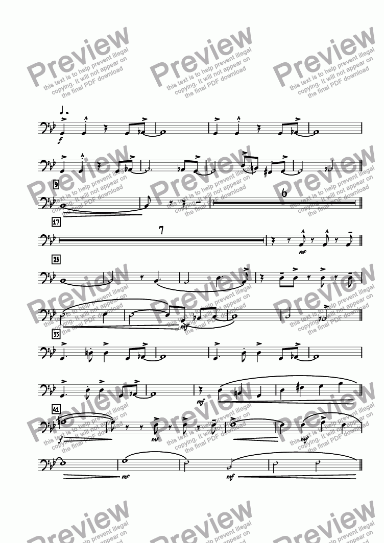 page one of the Bass Trombone 4 part from Moment I Fell In Love With You, The