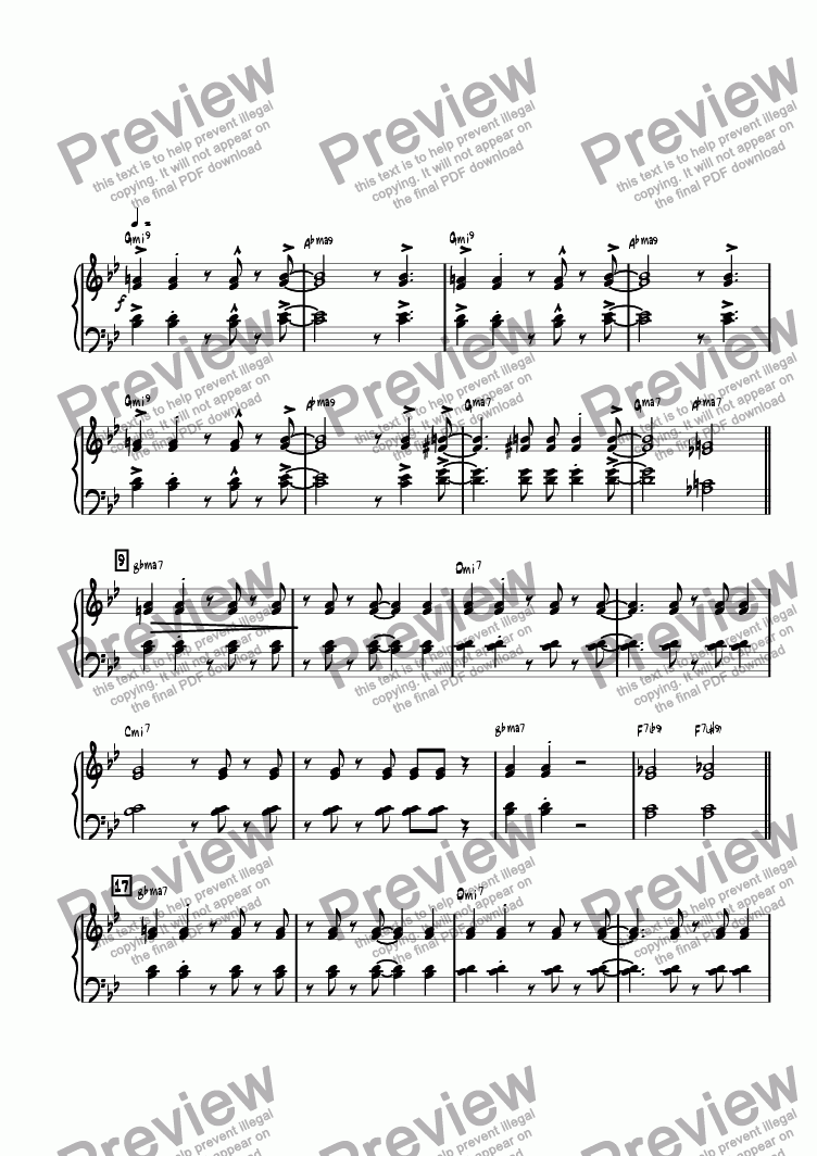 page one of the Piano part from Moment I Fell In Love With You, The