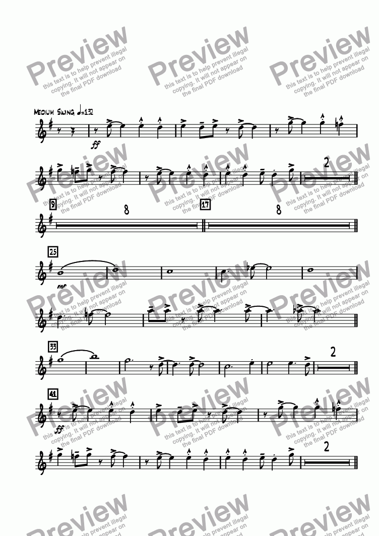 page one of the Tenor Sax 1 part from Road Home, The