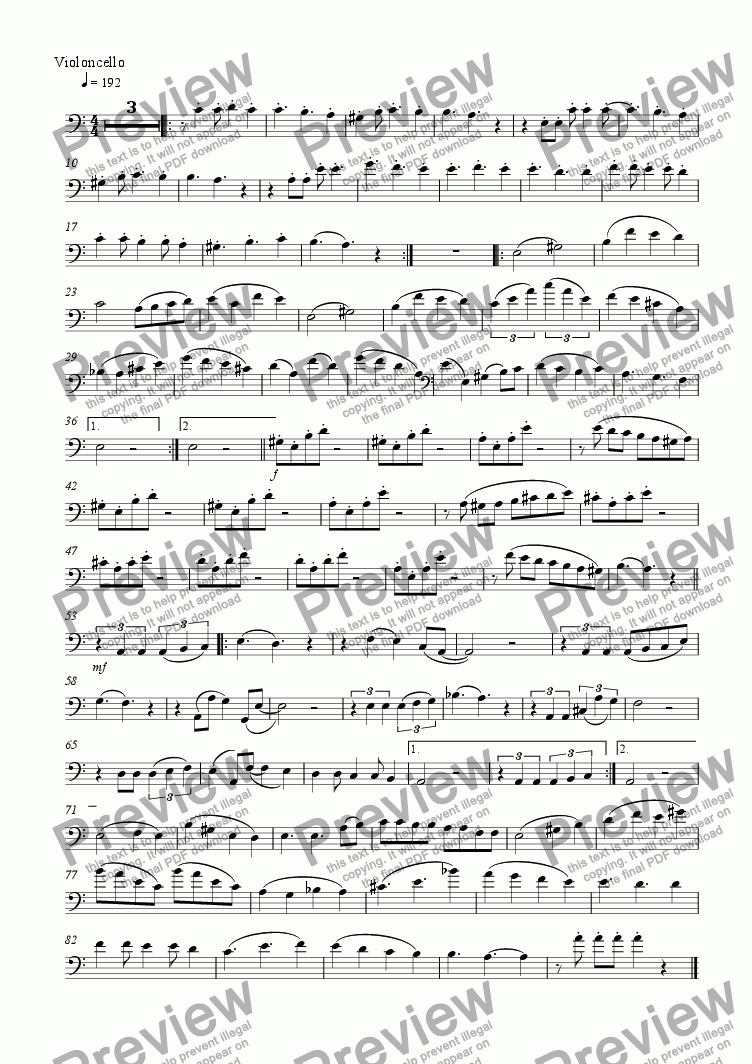 page one of the Vlc b part from Cello Book 16  (The shores)