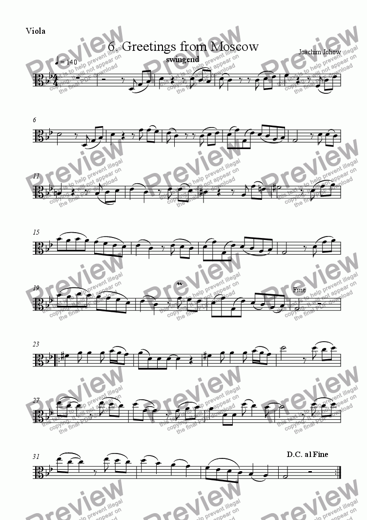 page one of the Vla b part from Viola Book 06 (Greetings from Moscow)