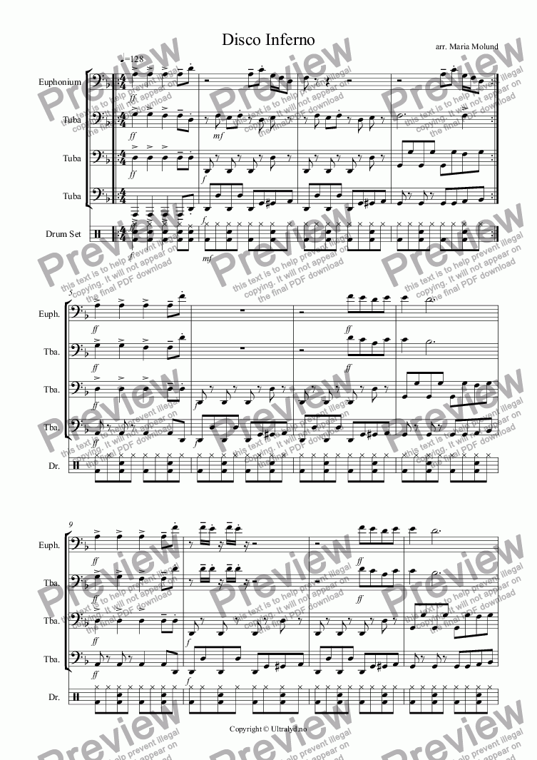 page one of the Tuba 2 part from Tubadisco