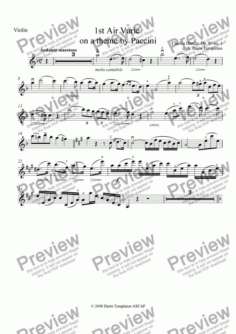 Violin Music Notes Pdf
