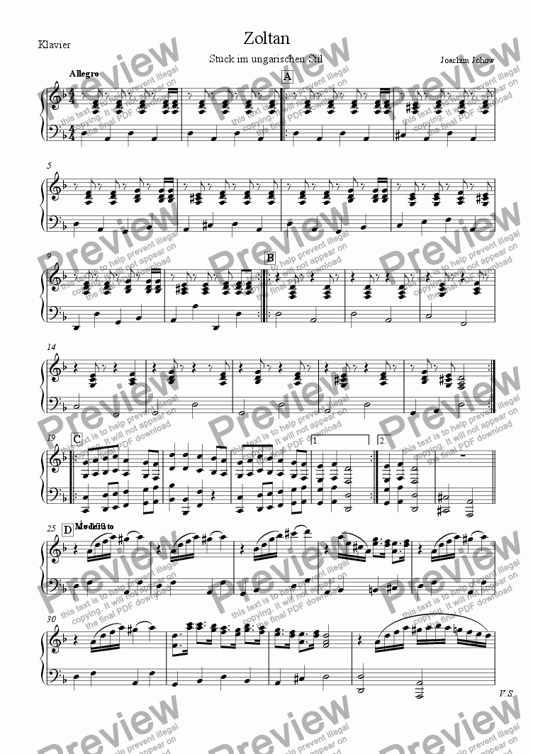 page one of the P part from My School Orchestra (03 Zoltan - Strings)