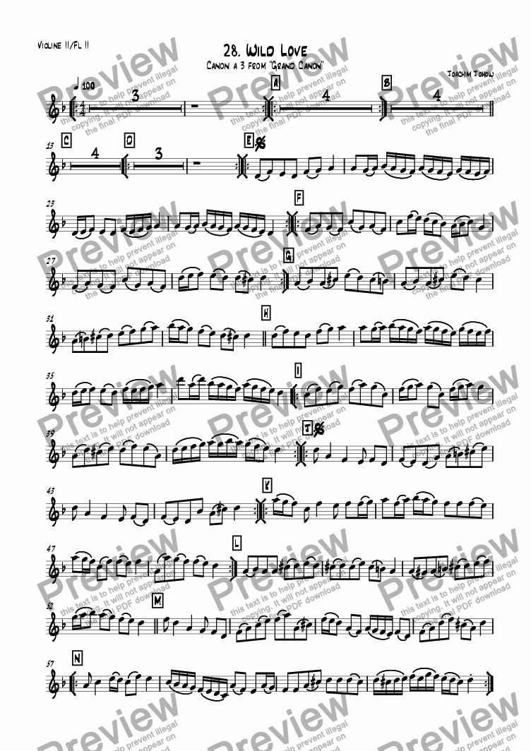 page one of the 2. Vl/2. Fl part from Grand Canon 28 (Wild Love)