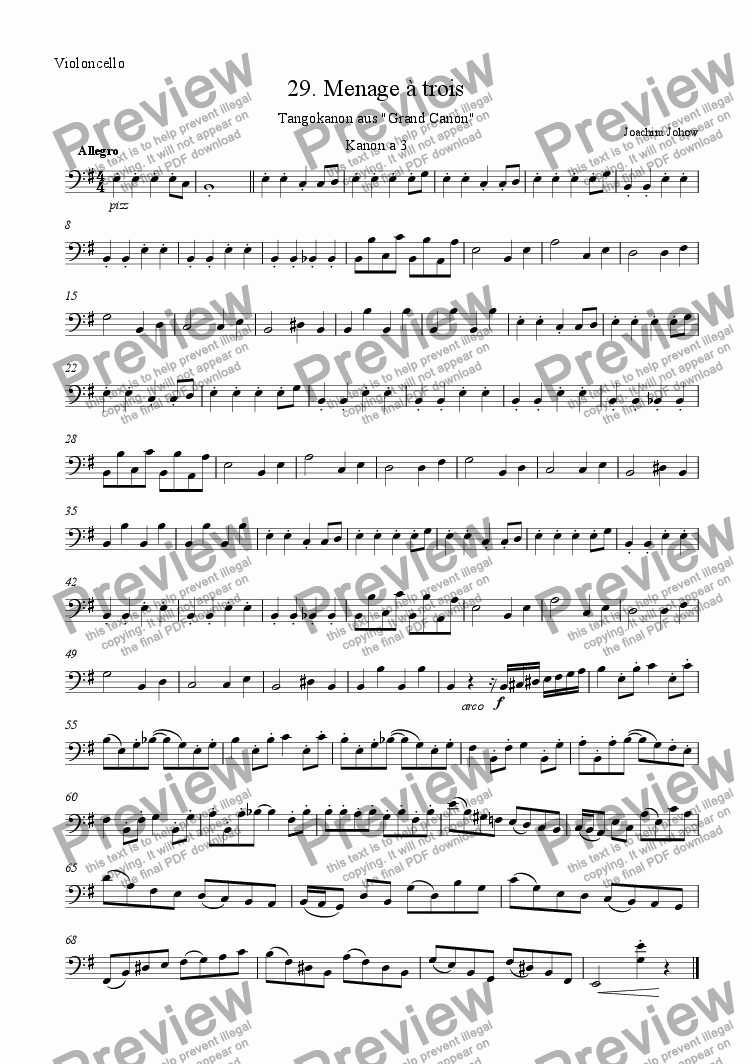 page one of the Vlc part from Grand Canon 29 (Tango Canon Vl/Fl)