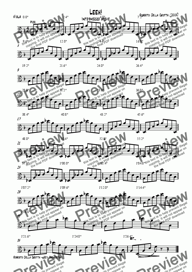 page one of the Viola part from Leeh!