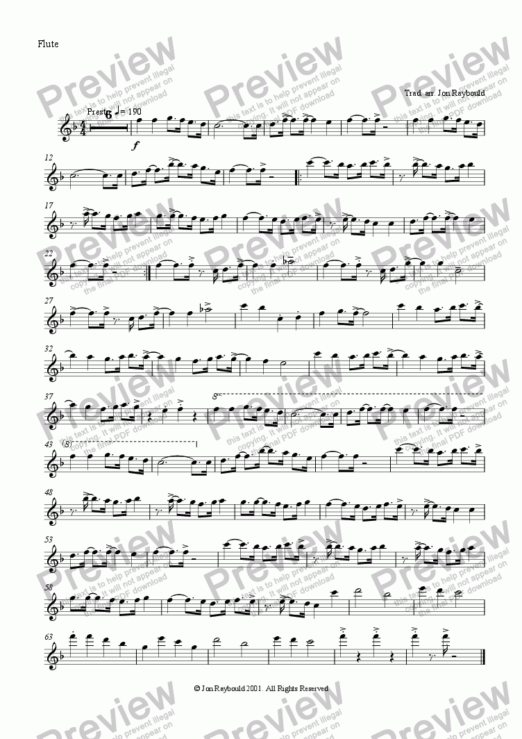 page one of the Flute part from Ding Dong Jazzily On High (flute)