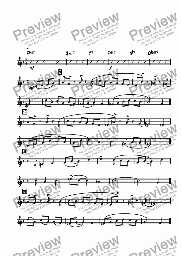 page one of the Vibraphone part from Bricktown Waltz
