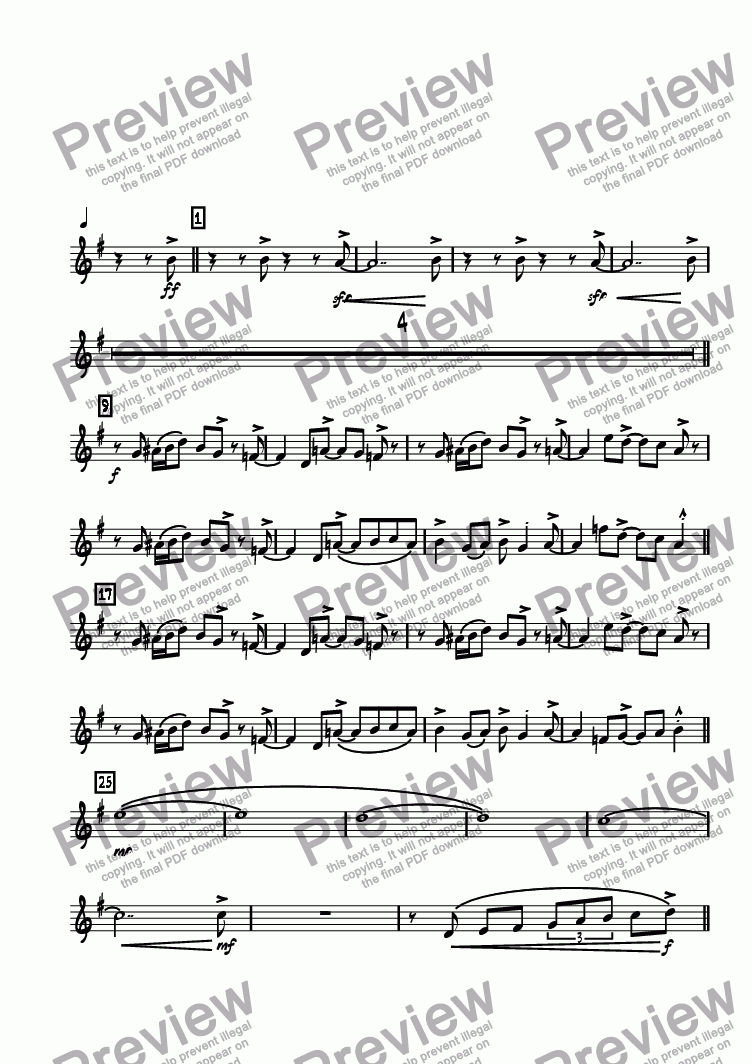 page one of the Tenor 1 part from 620 North Main