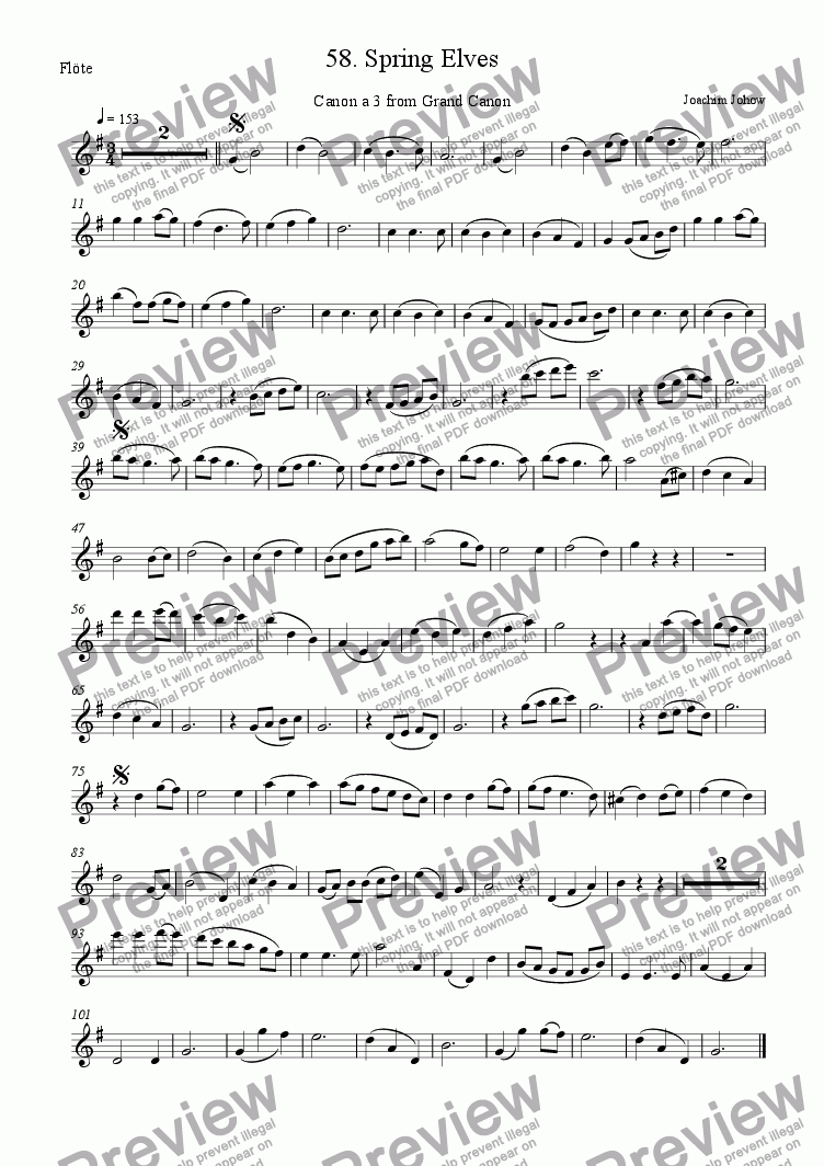 page one of the Fl part from Grand Canon 58 (Spring Elves - 3 Fl)