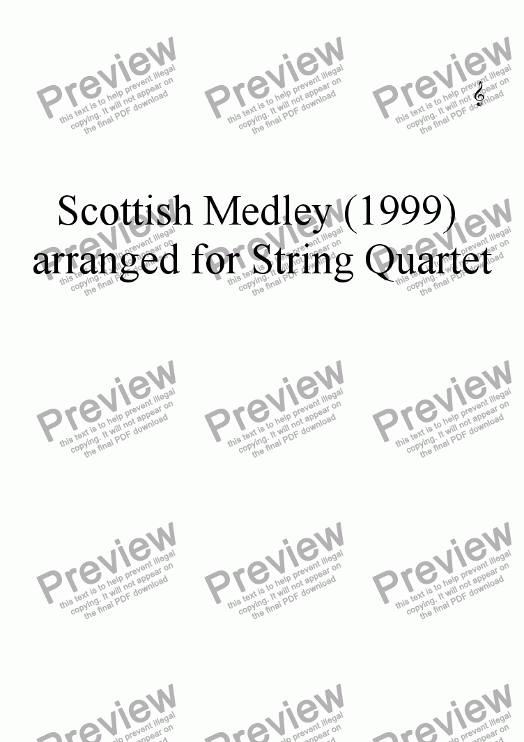 page one of the Violin II part from Scottish Medley (1999) arr for String Trio
