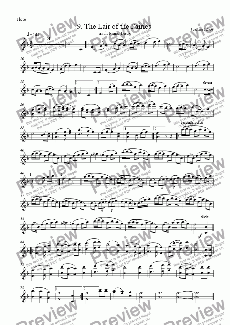 page one of the Fl part from My School Orchestra (09 The Lair of the Fairies)