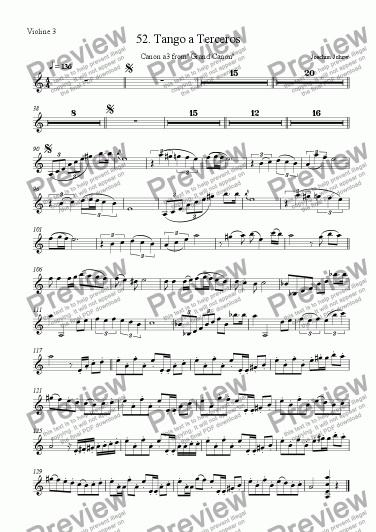 page one of the 3. Vl part from Grand Canon 52 (Tango a Terceros - 3 Vl)