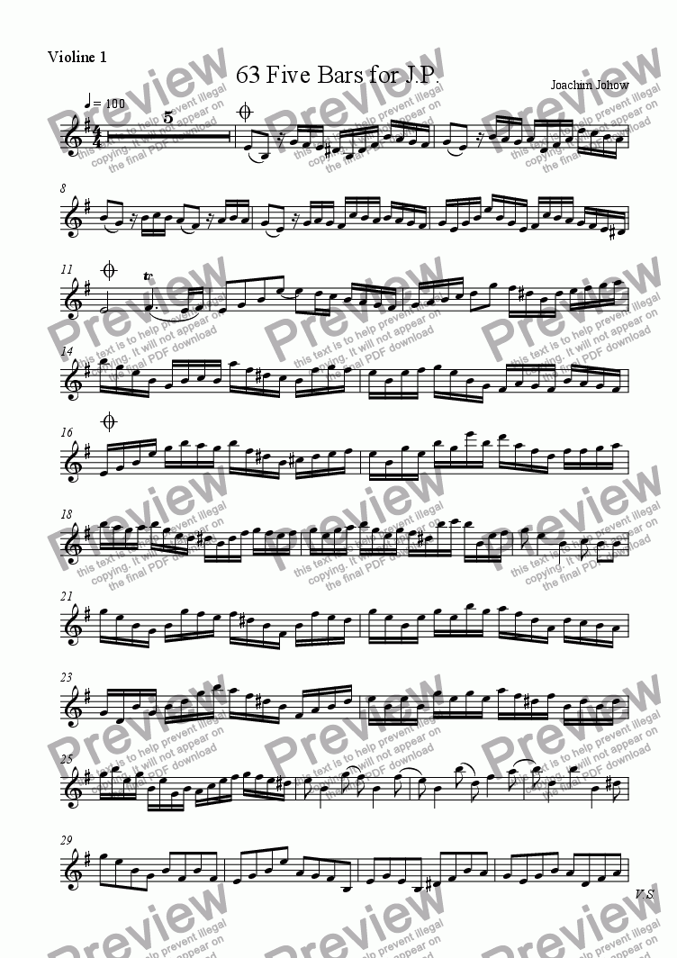 page one of the Vl part from Grand Canon 63 (5 Bars for J P - 3Vl )