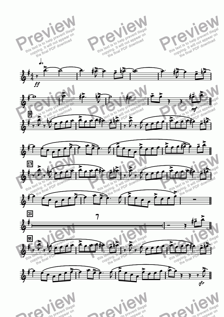 page one of the Alto 1 part from Bop Chops