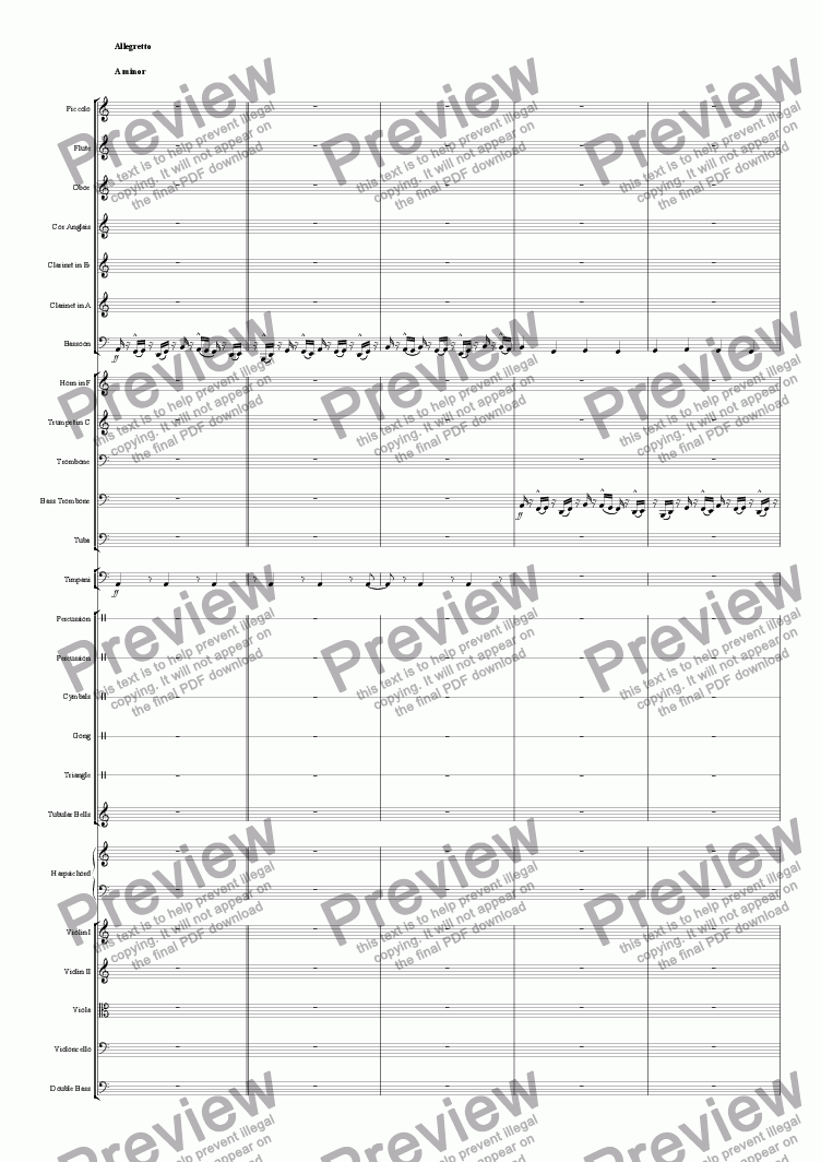 page one of the violin I part from NORWAY - Symphonic Poem No.2 (The Trudge of the Trolls)