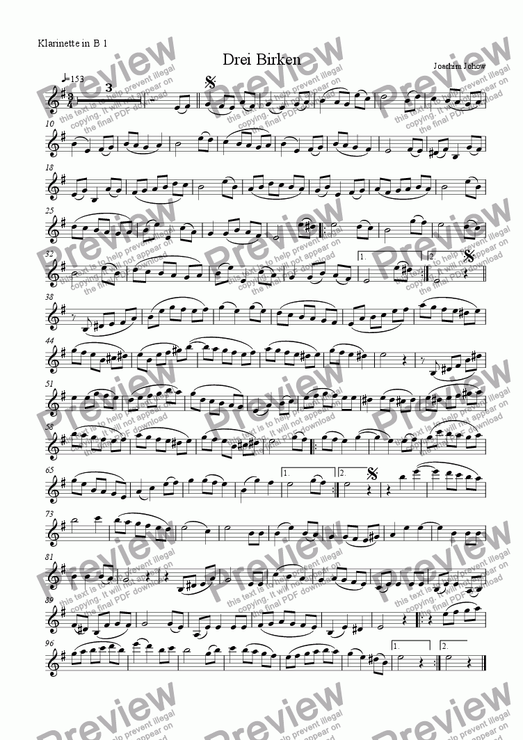 page one of the Cl B part from Grand Canon 71 (Three Birches  - 3 Cl )