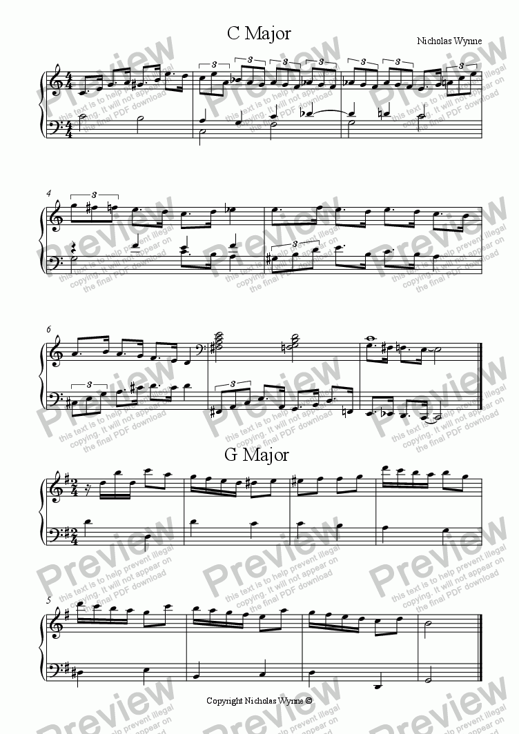 page one of the Primo part from Sight Reading Duets for Pupil and Teacher Book Two - Scales