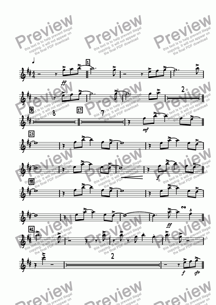 page one of the Alto 1 part from Positivity