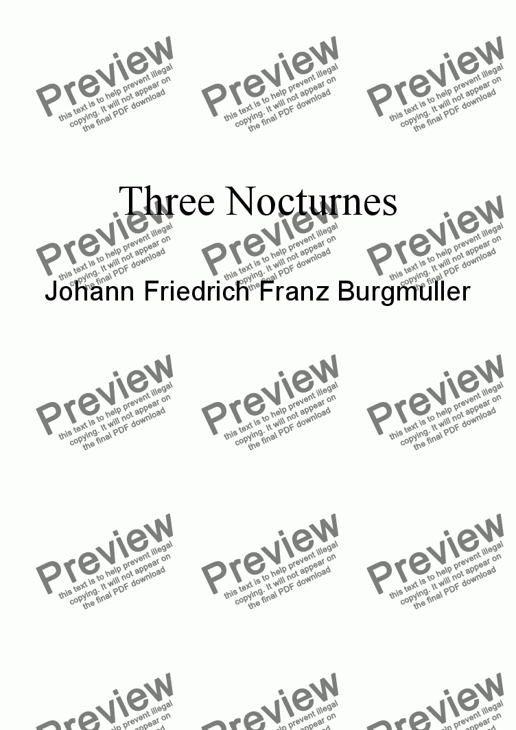 page one of the Alto Flute part from Burgmuller: Three Nocturnes for alto flute and piano