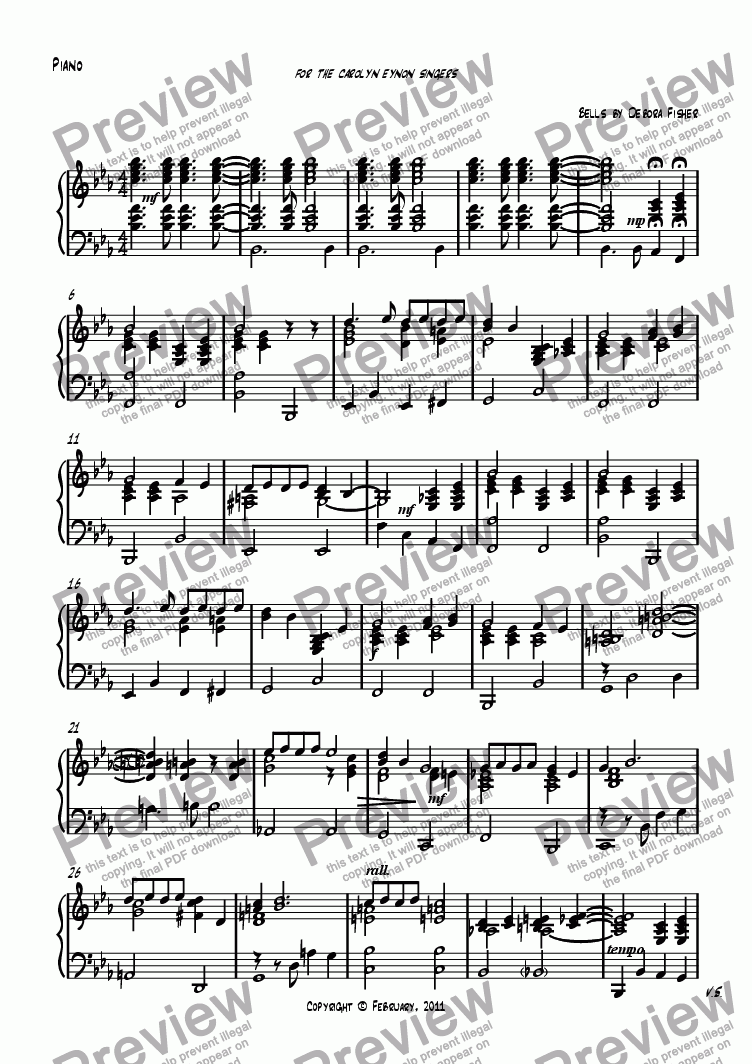 page one of the Piano part from Pure Imagination
