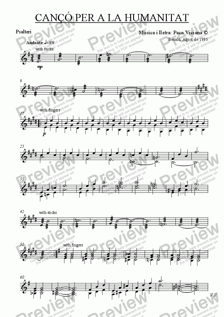 page one of the Psalteri part from 070-Cançó per a la Humanitat (catalan)-(original version)