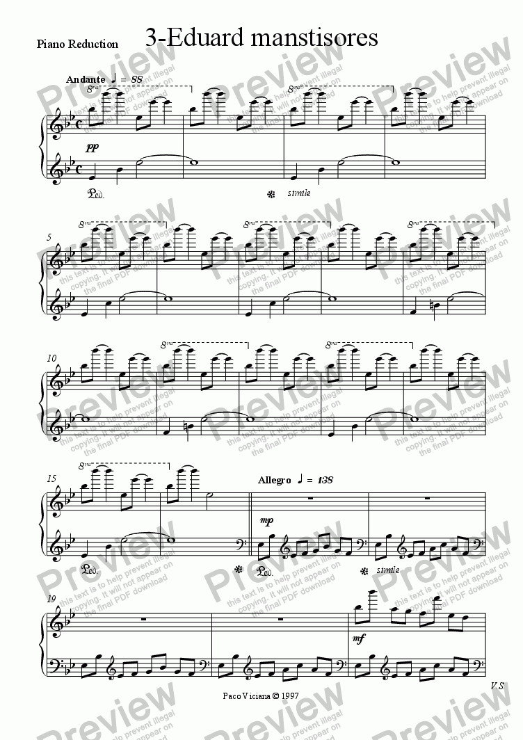 page one of the Piano Reduction part from 082-Nickelodeon (03-Eduard manstisores)