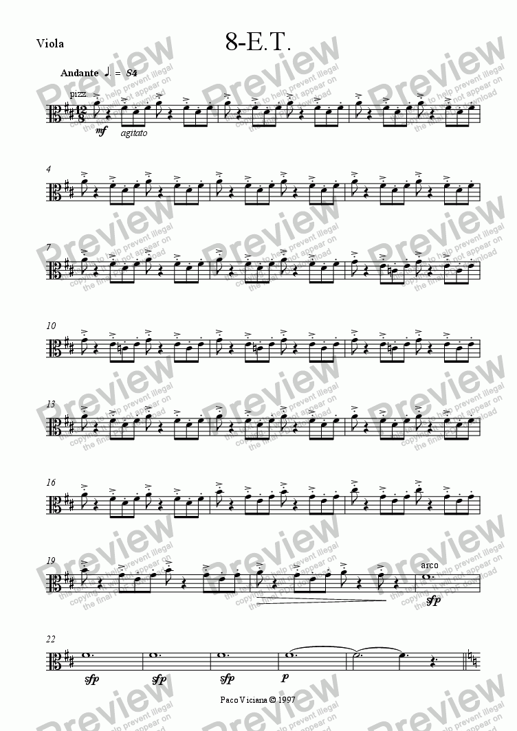 page one of the Viola part from 082-Nickelodeon (08-E.T.)