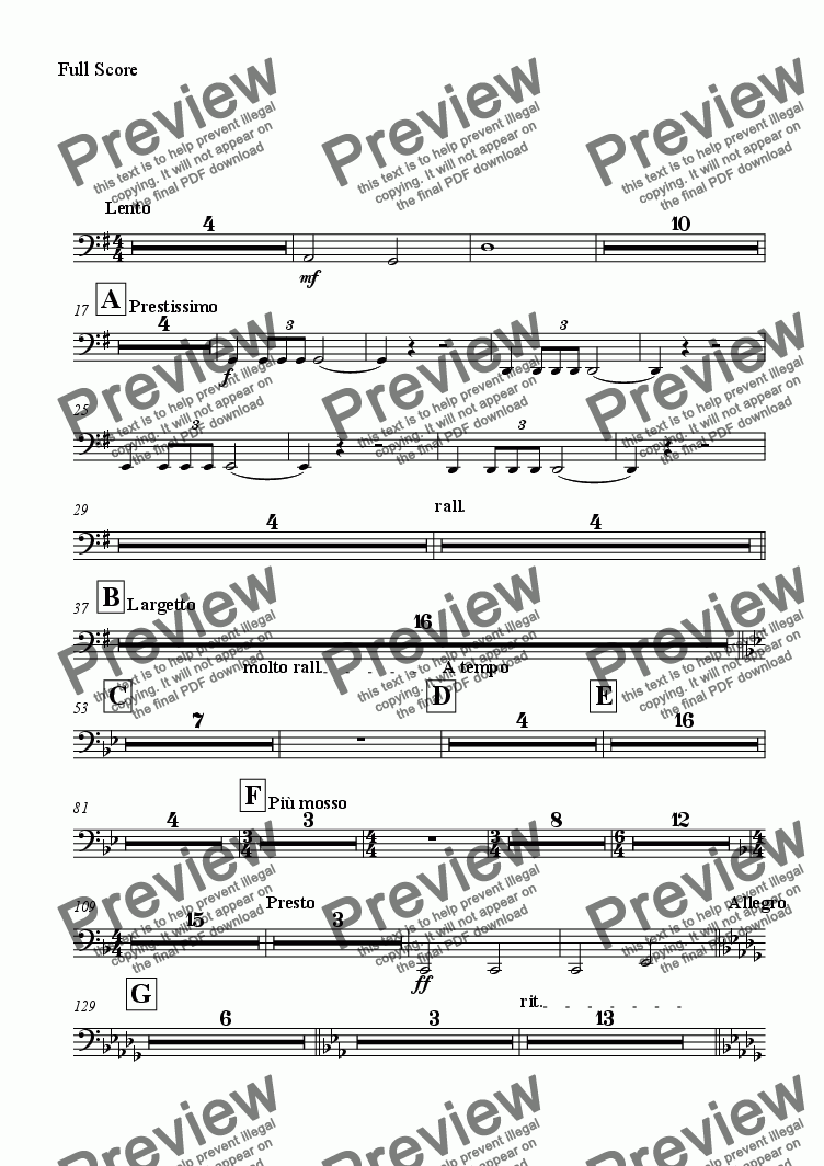 page one of the Tuba part from Tracks of Sound