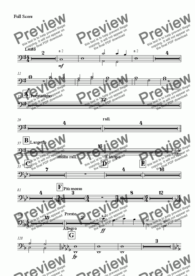 page one of the Bassoon part from Tracks of Sound