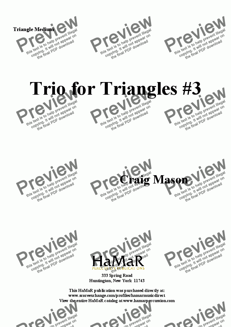 page one of the Triangle Medium part from Trio for Triangles #3