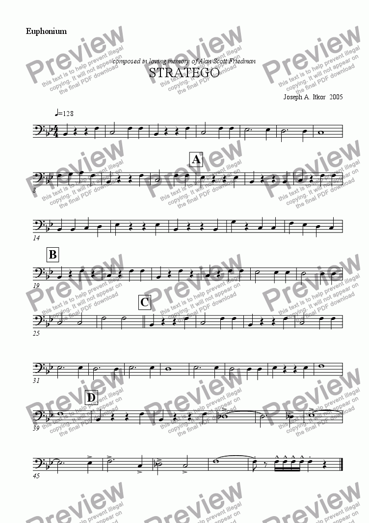 page one of the Euphonium part from STRATEGO