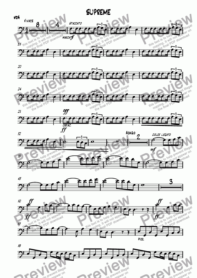 page one of the CELLO3 part from SUPREME