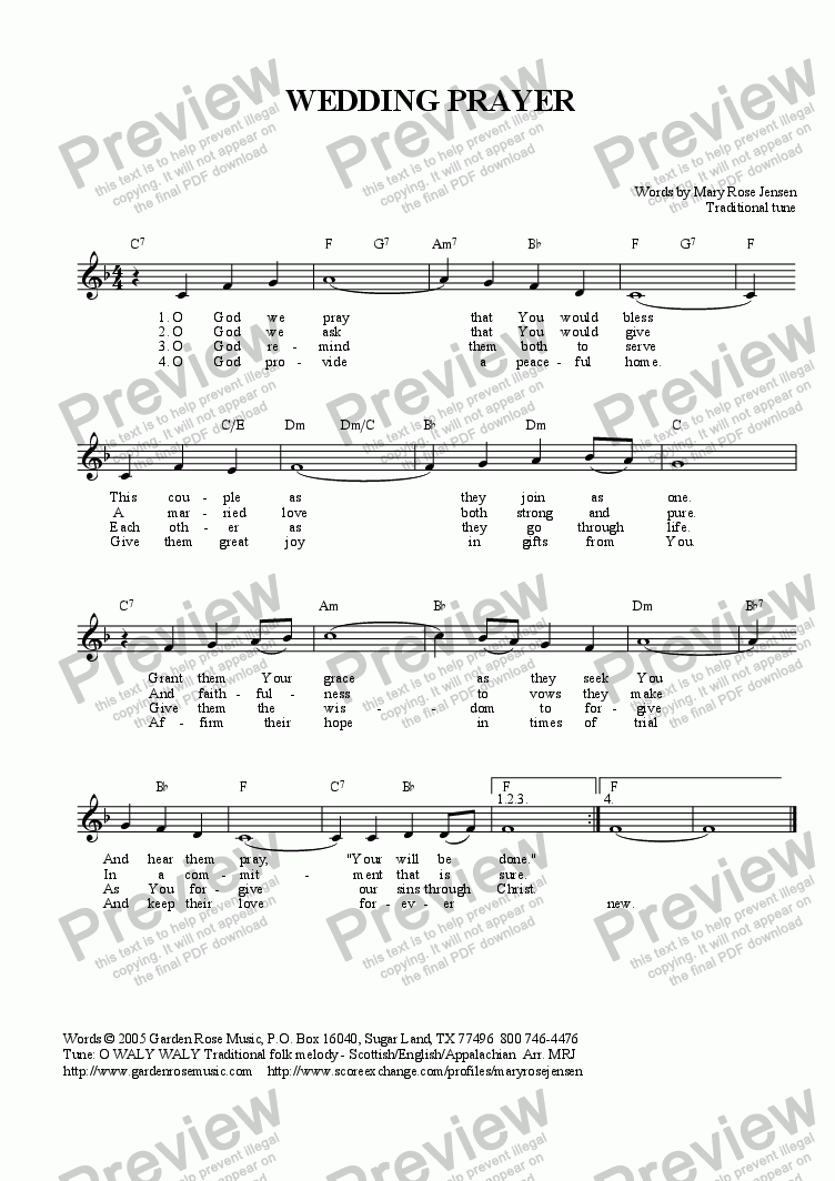 Lead sheet with chords part from wedding prayer o waly waly which method of viewing music should i use hexwebz Image collections