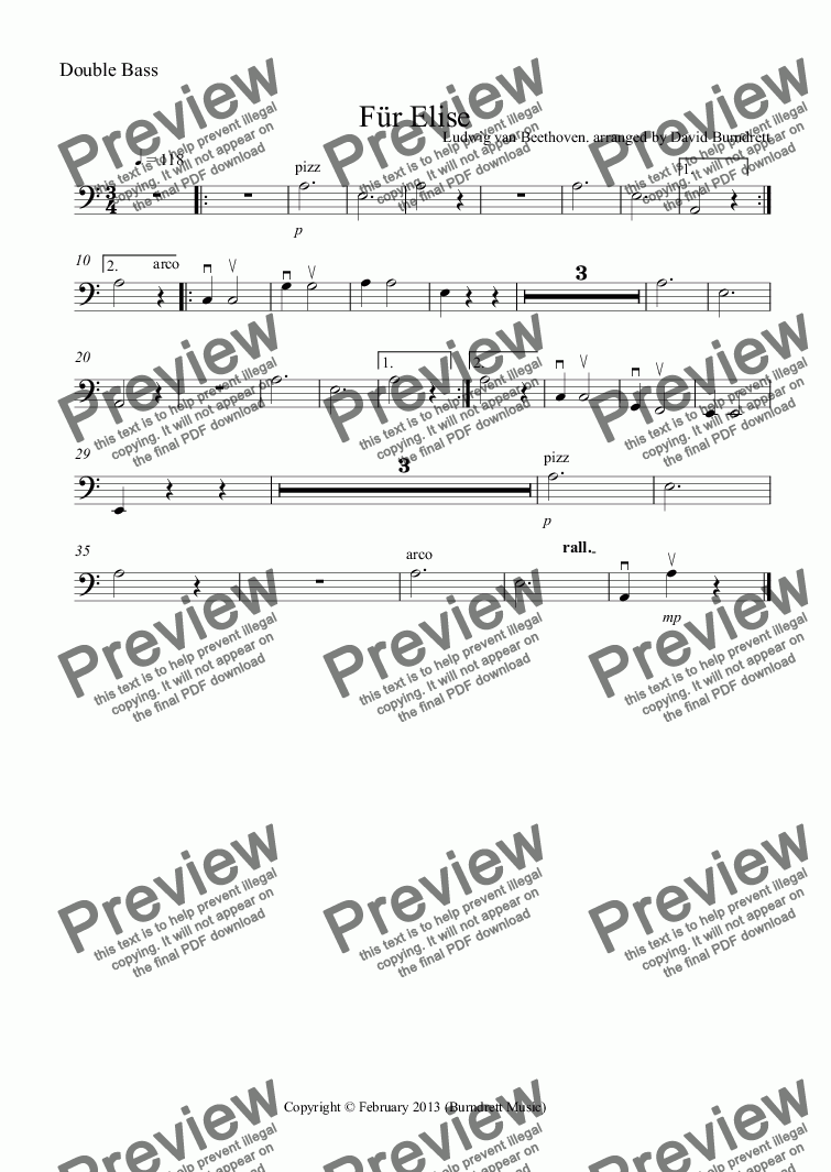 fur elise sheet music pdf