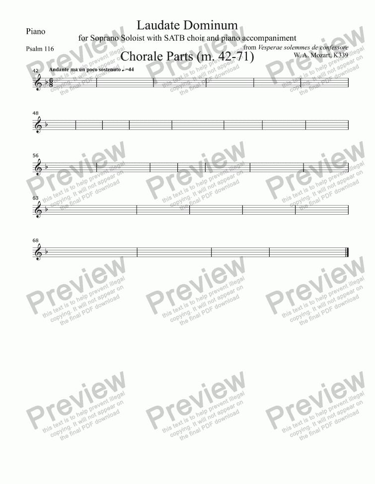 compwafi • Blog Archive • Laudate dominum mozart soprano pdf