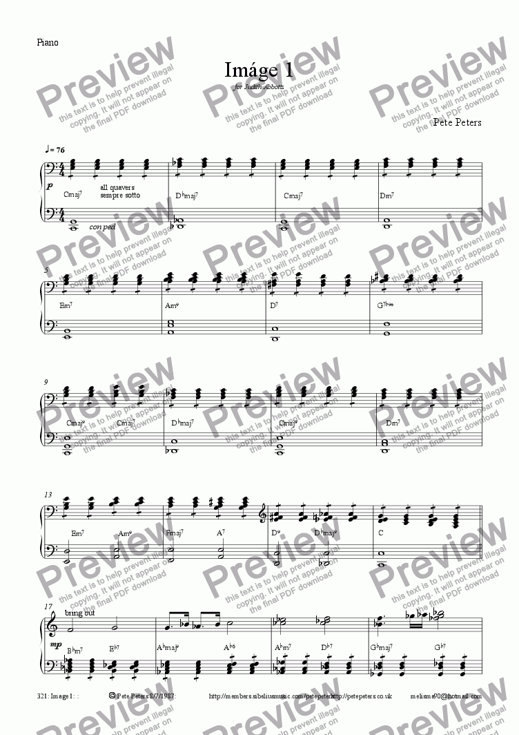 page one of the Piano part from Image 1 ['Cello feature/Orchestral version]