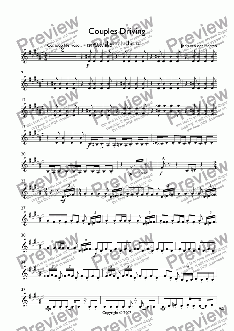 page one of the Clarinets in B^b part from Ars Amatoria (juvenilia, choir SATB)