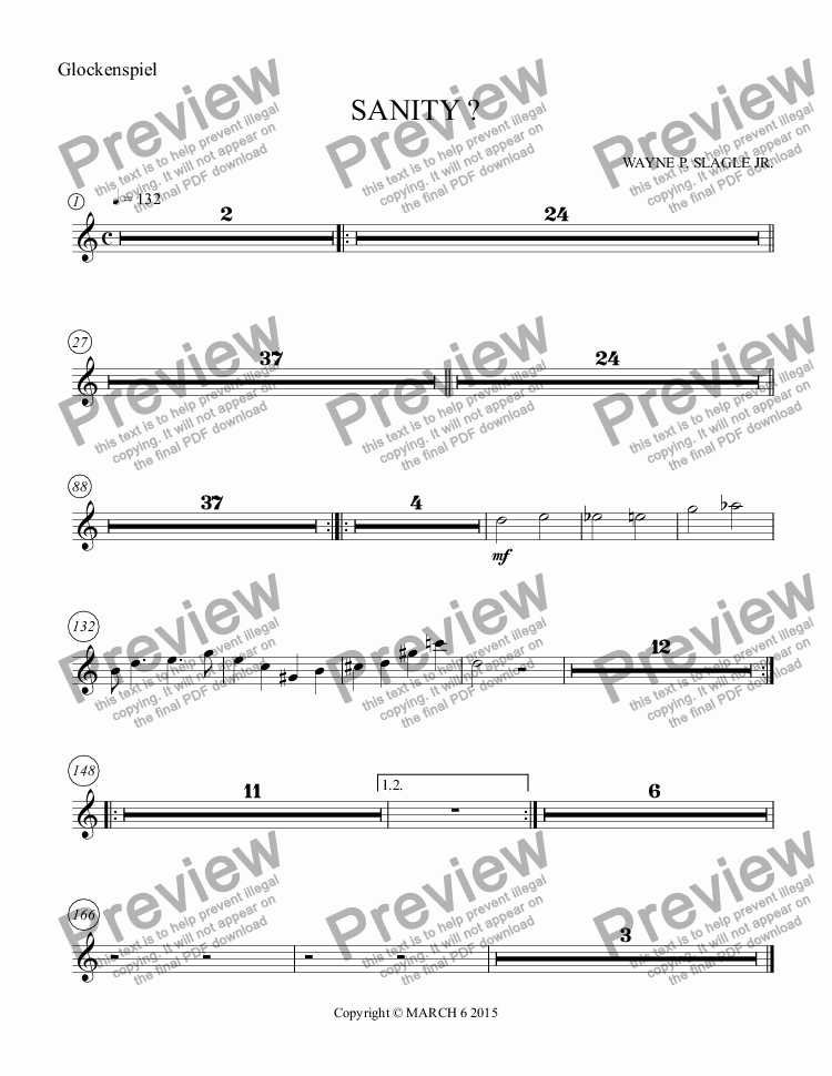page one of the Glockenspiel part from SANITY ?