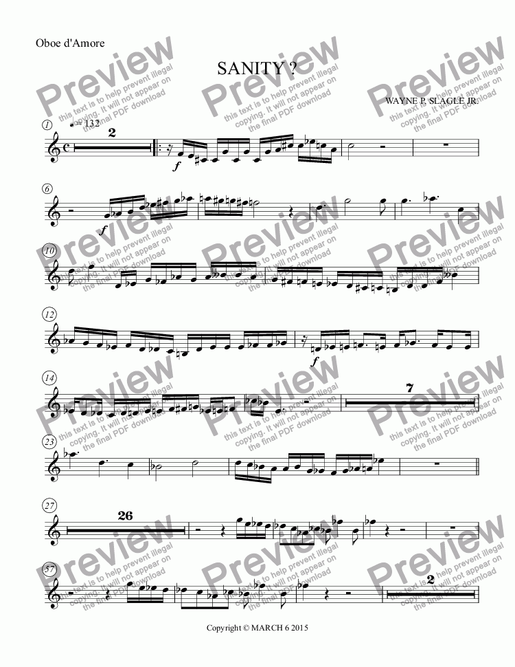 page one of the Oboe d'Amore part from SANITY ?