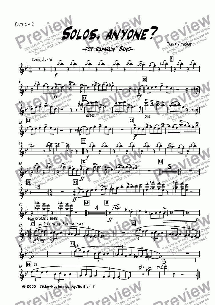 page one of the Flutes 1&2 part from Solos, anyone? (for swingin´ band)