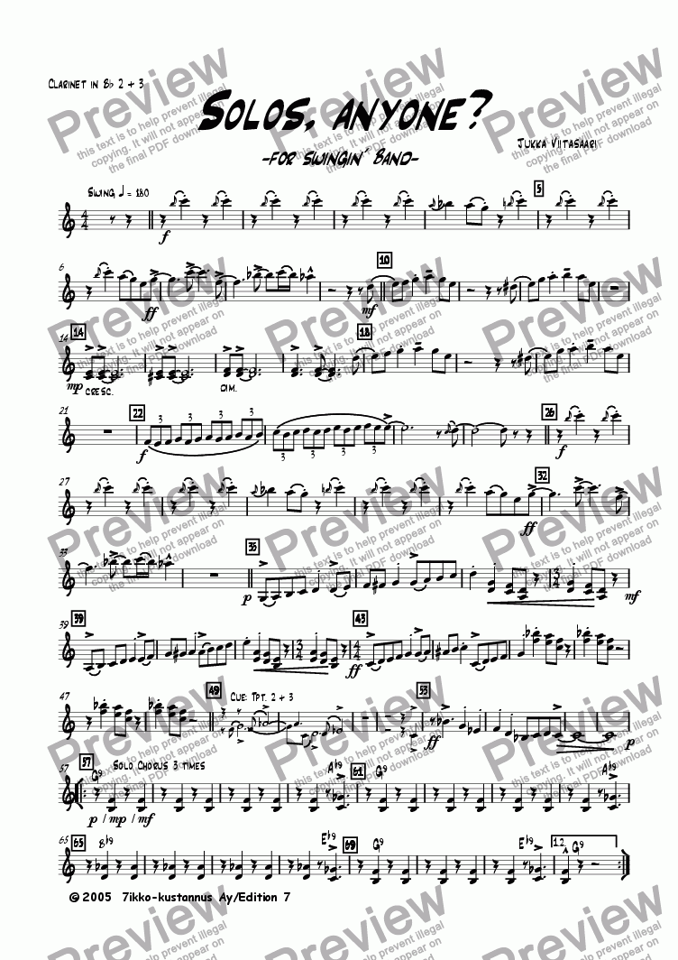 page one of the Bb Clar. 2&3 part from Solos, anyone? (for swingin´ band)