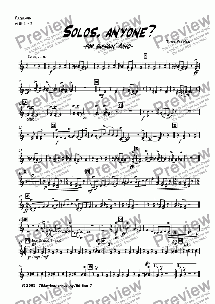 page one of the Flugelhorns 1&2 part from Solos, anyone? (for swingin´ band)