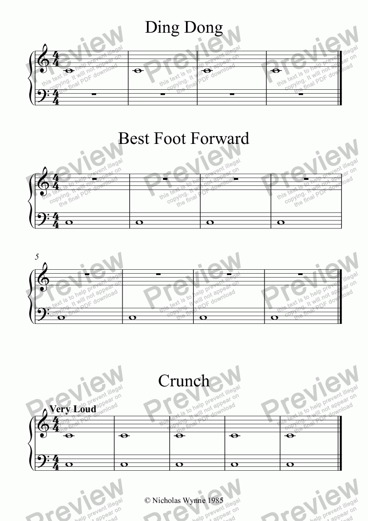 page one of the Piano - Secondo part from Sight Reading Duets for Pupil and Teacher Book One